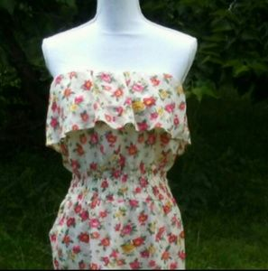 BOGO!! Strapless Floral Print Mini-Dress Sz M